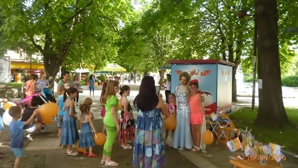 деца на Централния фонтан - Мездра - 2